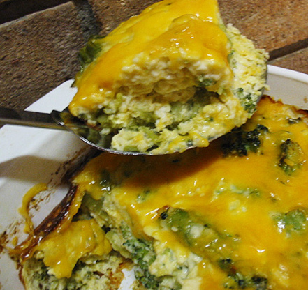 Double cheese broccoli and cheese casserole foodgasm recipes for Broccoli casserole with fresh broccoli