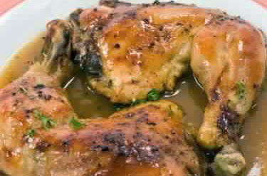 Honey And Lemon Baked Chicken Leg Quarters Foodgasm Recipes