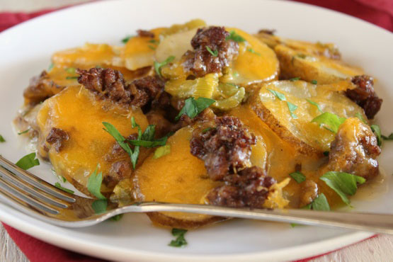Scalloped Potato And Ground Beef Casserole Foodgasm Recipes