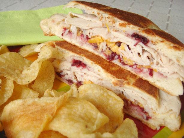 Turkey, Cheddar Cranberry Sandwich