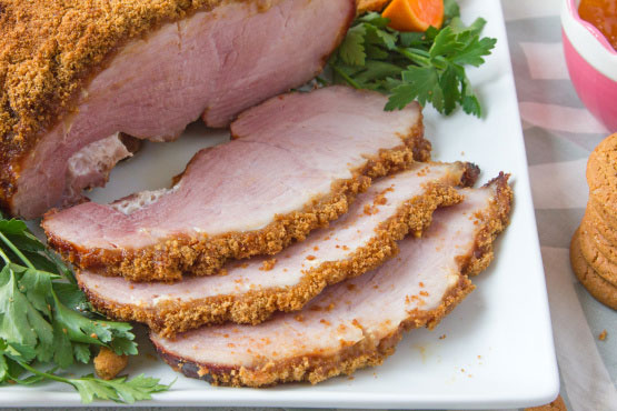 Gingersnap Crusted Ham – Delicious Beyond Belief