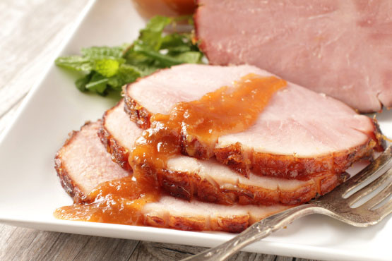 Glazed Ham with Chipotle Peppers
