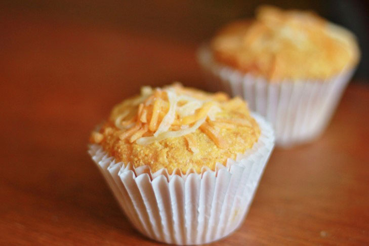 Cheddar Corn Muffins – Light and Moist