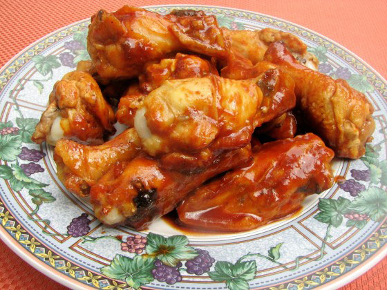 Chicken Wings With BBQ Sauce for the Crockpot!
