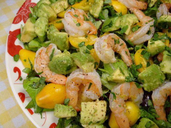 Shrimp, Avocado and Tomato Salad - Foodgasm Recipes
