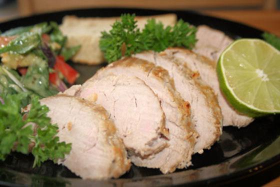Grilled Garlic Pork Tenderloin