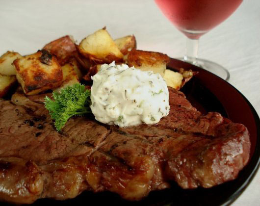 Steak with Blue Cheese Butter