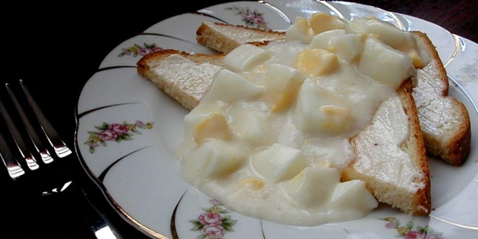 Creamed Eggs On Toast – AKA Eggs Ala Goldenrod