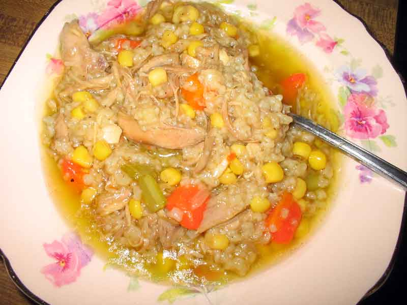 Turkey Soup With Rice – Turkey Carcass Soup